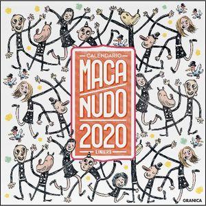 MACANUDO 2020 CALENDARIO DE PARED