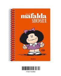 AGENDA 2021 MAFALDA ANILLADA ANARANJADO