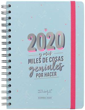 2020 Y MIS MILES DE COSAS GENIALES POR HACER. AGENDA CLÁSICA 2020 SEMANA VISTA