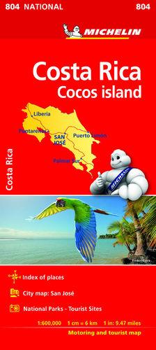 COSTA RICA. MAPA NATIONAL 804. 2018