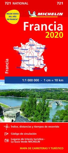 MAPA NATIONAL FRANCIA 2020 721. 1:1.000.000
