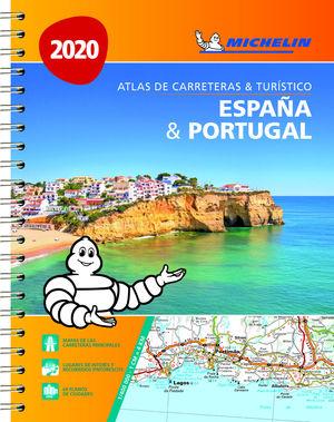 ESPAÑA & PORTUGAL (FORMATO A-4) (ATLAS DE CARRETERAS Y TURÍSTICO ) 2020. 1:400.000