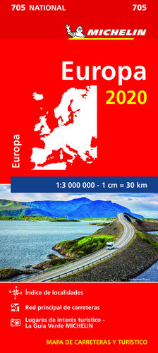 MAPA NATIONAL EUROPA 2020. 705. 1:3.000.000