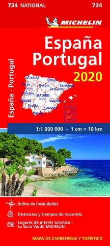 MAPA NATIONAL ESPAÑA - PORTUGAL 2020. 734. 1:1.000.000