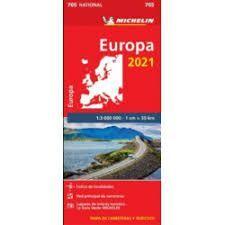 MAPA EUROPA 2021. 705. 1:3.000.000. MICHELIN