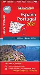 MAPA ESPAÑA-PORTUGAL 2021 ALTA RESISTENCIA. 794. 1/1.000.000