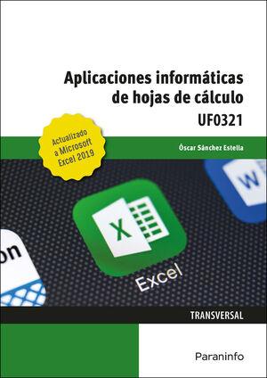 UF0321 APLICACIONES INFORMATICAS DE HOJAS DE CALCULO