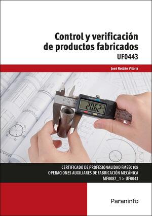 CONTROL Y VERIFICACION DE PRODUCTOS FABRICADOS
