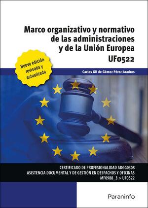 UF0522 MARCO ORGANIZATIVO Y NORMATIVO DE LAS ADMINISTRACIONES PUBLICAS Y DE LA UNION EUROPEA
