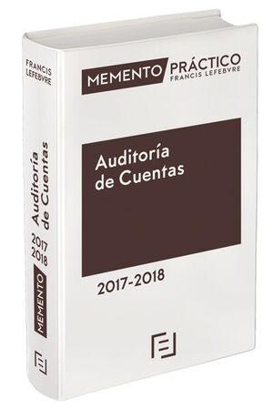 MEMENTO PRÁCTICO AUDITORÍA DE CUENTAS 2017-2018