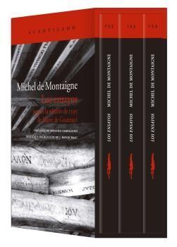 ESTUCHE LOS ENSAYOS DE MONTAIGNE (3 VOLUMENES)
