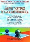 AMBITOS Y CRITERIOS DE LA CALIDAD PEDAGOGICA