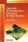 OPERARIO DE INSTALACIONES ELECTRICAS DE BAJA