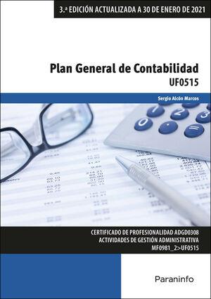 UF0515 PLAN GENERAL DE CONTABILIDAD 3ª ED. ACTUALIZADA 2021