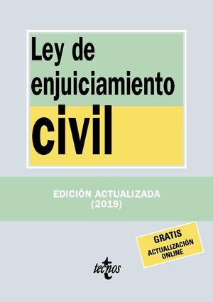 LEY DE ENJUICIAMIENTO CIVIL ED. 2019