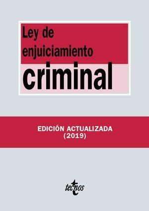 LEY DE ENJUICIAMIENTO CRIMINAL ED. 2019