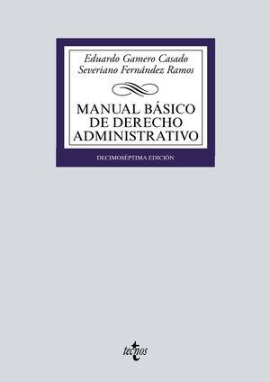 MANUAL BÁSICO DE DERECHO ADMINISTRATIVO 17ª ED. 2021