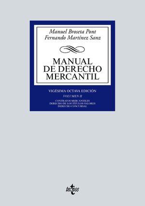 MANUAL DE DERECHO MERCANTIL. VOL. 2