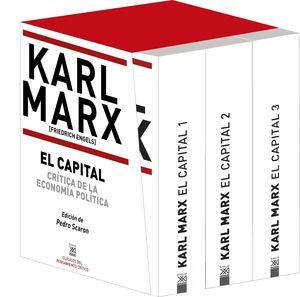 ESTUCHE: EL CAPITAL 3 VOLUMENES. TAPA BLANDA