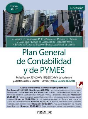 PLAN GENERAL DE CONTABILIDAD Y DE PYMES ED. 2019