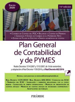 PLAN GENERAL DE CONTABILIDAD Y DE PYMES 2020. 14ª ED.