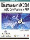 DREAMWEAVER MX 2004. ASP, COLDFUSION Y PHP