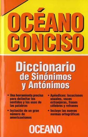 OCEANO CONCISO DICCIONARIO DE SINÓNIMOS Y ANTÓNIMOS