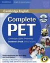 COMPLETE PET STUDENT'S BOOK WITHOUT ANSWERS + CD-ROM
