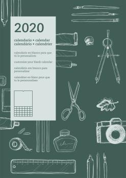 2020 CALENDARIO PARED DIY INTERNACIONAL. CALENDARIO EN BLANCO PARA QUE TÚ LO PERSONALICES