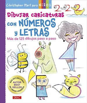 DIBUJAR CARICATURAS CON NUMEROS Y LETRAS